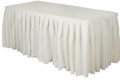 Where to rent TABLE SKIRT, IVORY  8 in St. Helens OR