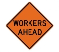 Where to rent SIGN, WORKERS AHEAD 36X36 in St. Helens OR