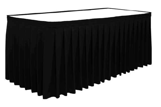 Where to find TABLE SKIRT, BLACK  8 in St. Helens