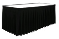 Where to rent TABLE SKIRT, BLACK  8 in St. Helens OR
