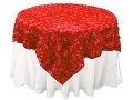 Where to rent Linen, 72  x 72  Overlay Rosette Red in St. Helens OR