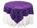 Where to rent Linen, 72  x 72  Overlay Rosette Purple in St. Helens OR