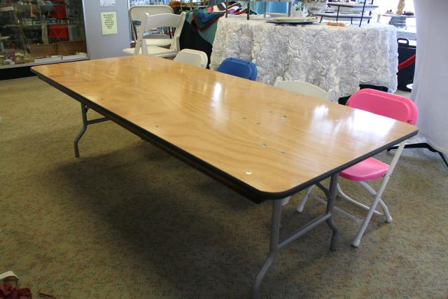 Where to find TABLE, BANQUET 6  X 30  CHILDRENS HT. in St. Helens