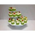 Where to rent CUPCAKE STAND OCTAGON WHITE 10 in St. Helens OR