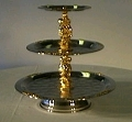 Where to rent SERVING TRAY, 3 TIER GOLD in St. Helens OR