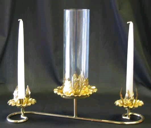 Where to find CANDLE HOLDER, 3 BR BRASS in St. Helens