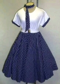 Where to rent POLKADOT SKIRT, BLUE in St. Helens OR