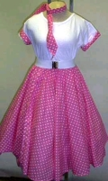 Where to rent POLKADOT SKIRT, PINK in St. Helens OR