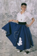 Where to rent POODLE SKIRT, BLACK    LG in St. Helens OR