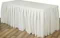 Where to rent TABLE SKIRT, IVORY 13.5 in St. Helens OR