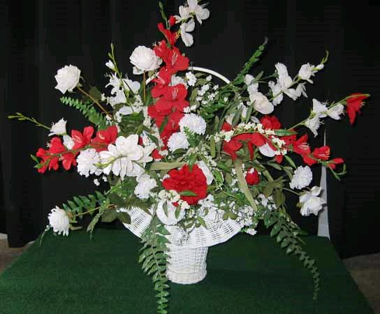 Silk flower basket white rentals st helens or where to rent silk where to find silk flower basket white in st helens mightylinksfo