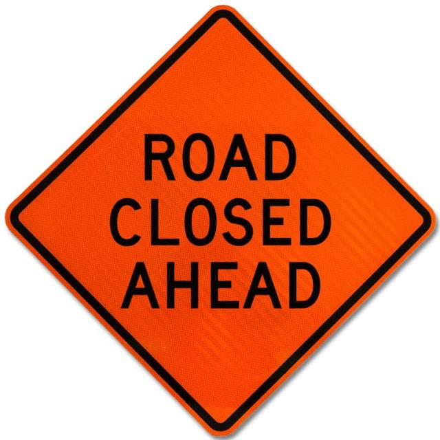 Where to find SIGN, ROAD CLOSED in St. Helens