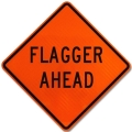 Where to rent SIGN, FLAGGER AHEAD 36X36 in St. Helens OR