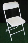 Where to rent CHAIR, WHITE FOLDING in St. Helens OR
