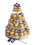 Where to rent CUPCAKE STAND 4 TIER ROUND WHT in St. Helens OR
